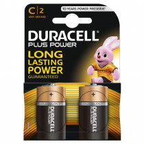 DURACELL Batterie PLUS POWER Baby C Pack = 2 Stück