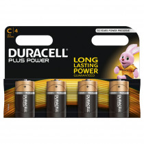 DURACELL Batterie PLUS POWER Baby C Pack = 4 Stück