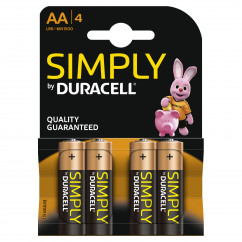 DURACELL Batterie Simply Mignon AA Pack = 4 Stück