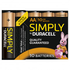 DURACELL Batterie Simply Mignon AA Pack = 10 Stück