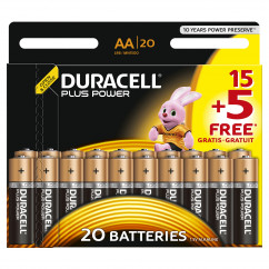 DURACELL Batterie PLUS POWER Mignon AA Pack = 20 Stück