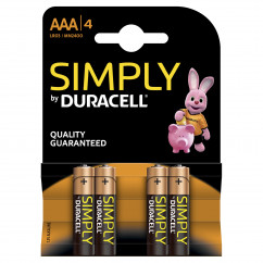 DURACELL Batterie Simply Micro AAA Pack = 4 Stück