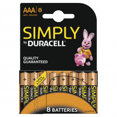 DURACELL Batterie Simply Micro AAA Pack = 8 Stück